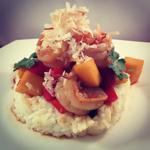 Spicy Mango Shrimp With Coconut Lime Rice