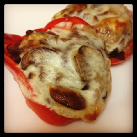 Philly Cheesesteak Stuffed Red Bell Peppers